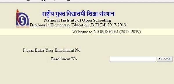 Deled examination fees status