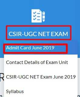 Csir Ugc Net Admit Card 2019