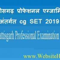 छत्तीसगढ़ प्रोफेशनल एग्जामिनेशन बोर्ड (Chhattisgarh Professional Examination Board) के अंतर्गत Cg State Eligibility Test पदों पर भर्ती