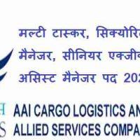 AAI Cargo Logistics & Allied Services Company Limited के अंतर्गत विभिन्न पद