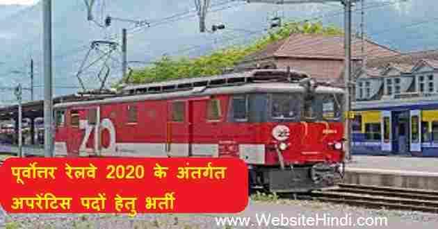 North Eastern Railway 2020