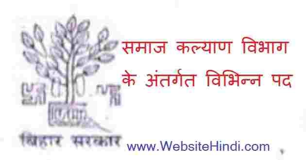 Social Welfare Department (Samaj Kalyan Vibhag)