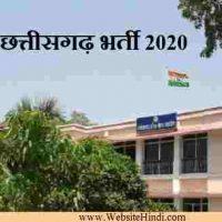 छत्तीसगढ़ लोक सेवा आयोग CGPSC के तहत State Service Exam 2020