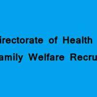 स्वास्थ्य और परिवार कल्याण विभाग (कलकाता) के तहत विभिन्न पदों पर भर्ती 2020