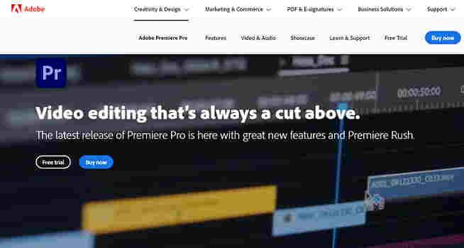 Adobe Premiere Pro website hindi
