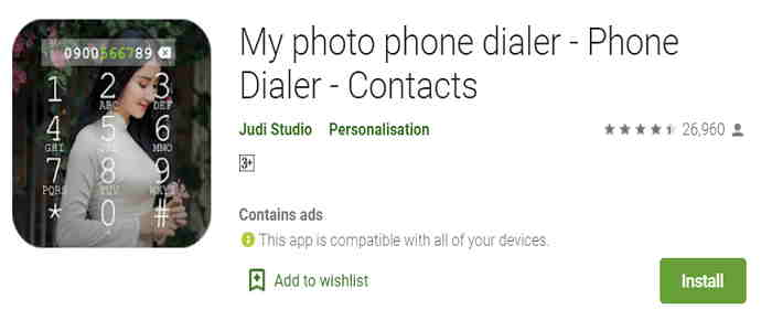 dialer pad of android phone