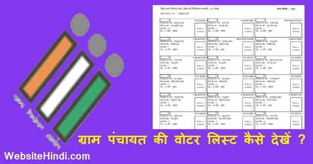 Gram Panchayat ka voter list kaise dekhe