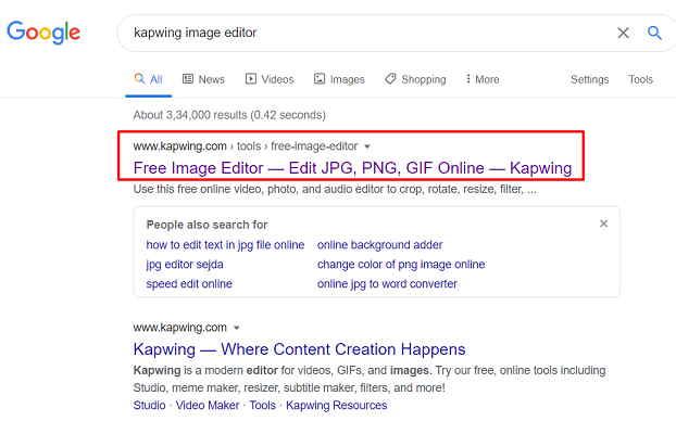 Kapwing Image Editor