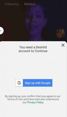 Sign Up With Google desivid