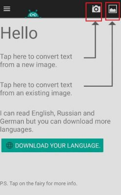 Tap Here To Convert word From A New Image
