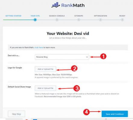 Your Site settings kaise kare