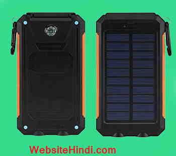 Aone India Solar Power Bank 10000 Mah