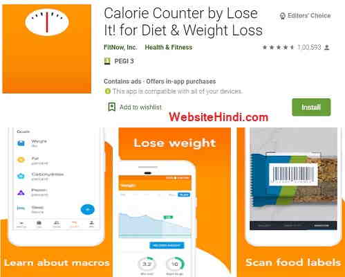 Calorie Counter By Lose It! For Diet & Weight Loss