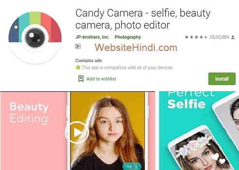 Candy Camera - Selfie, Beauty Camera, Photo Editor