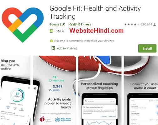Google Fit Health And Activity Tracking App