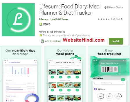 Lifesum Food Diary, Meal Planner & Diet Tracker