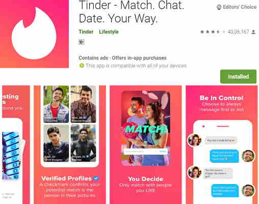 Tinder - Match. Chat. Date