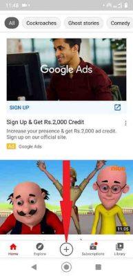 youtube short video create