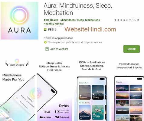 Aura: Mindfulness, Sleep, Meditation