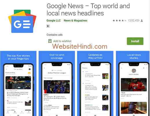 Google News – Top world and local news headlines