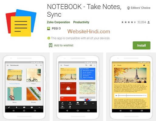 NOTEBOOK Take Notes Sync