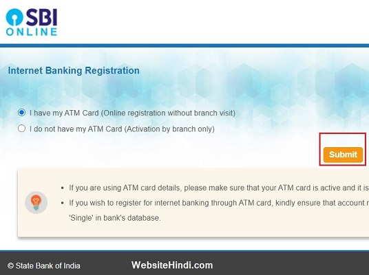 Online Registration Without Branch Visit