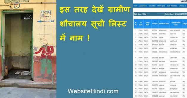 Shauchalay Yojana List 2020