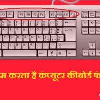 Keyboard Function Keys क्या है? कंप्यूटर कीबोर्ड फंक्शन कीज के बारे में पूर्ण जानकारियां हिंदी में !