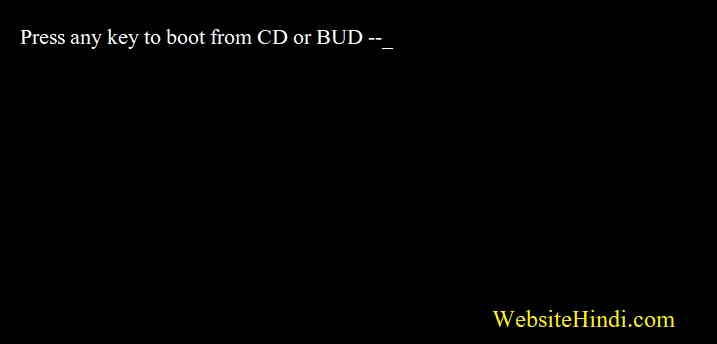 Press Any Key To Boot From Cd or