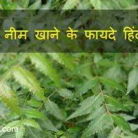 जानिए 2021 में नीम के पत्तियां खाने के फायदे हिंदी में |