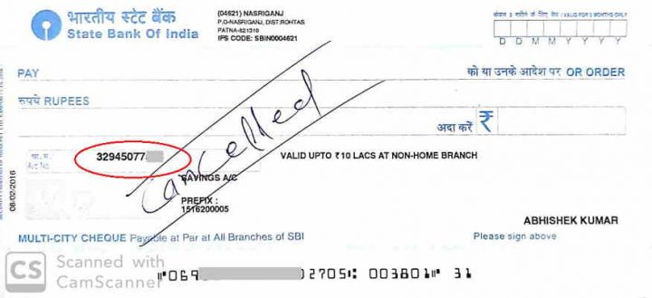sbi cheque