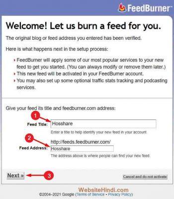 Feed-Address