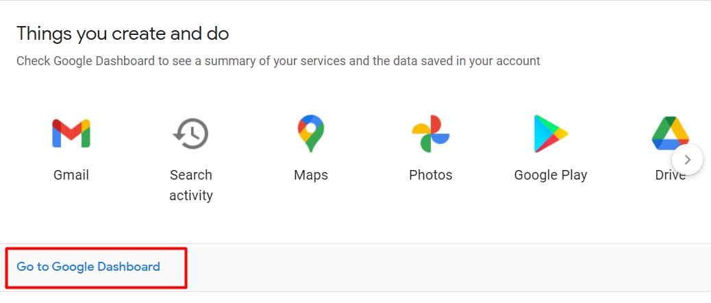 Go-To-Google-Dashboard