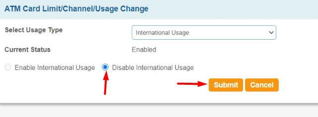 Enable -nternational-Usage