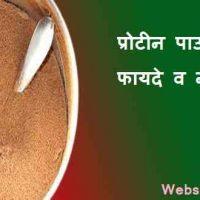 प्रोटीन पाउडर के फायदे व नुकसान हिंदी में
